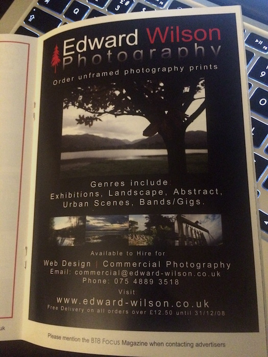 Photo of Edward Wilson Photography print ad